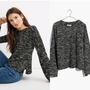 MADEWELL Marled Shoulder Button Detail Pullover